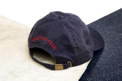 cap gluten free navy back